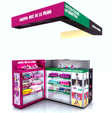 Beauty Brands Permanent Stand